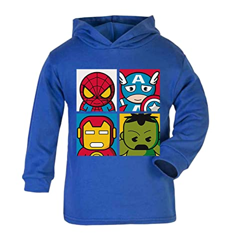 Heros - Sudadera con capucha ligera para niños, diseño de héroe de superhéroe, color