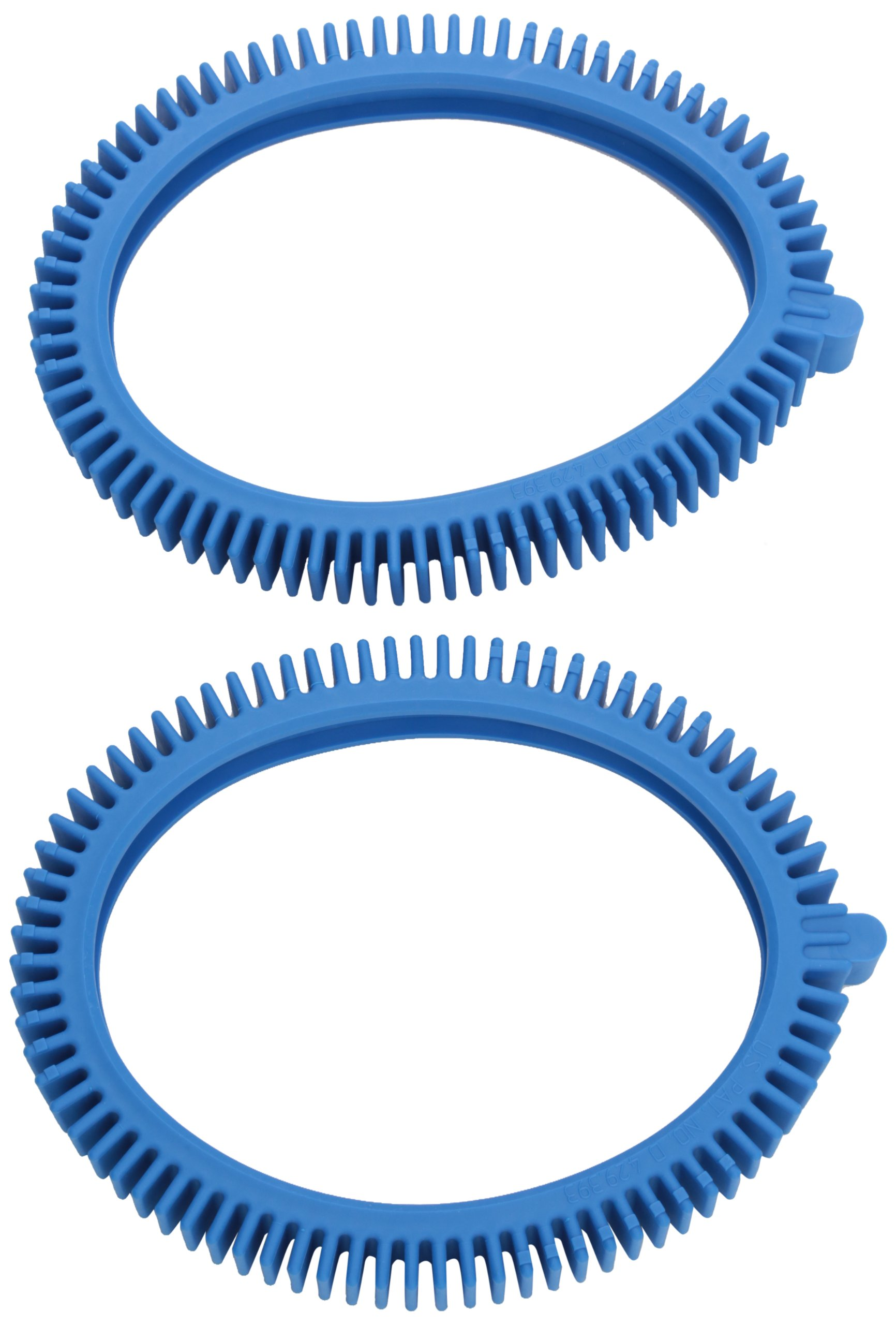 Poolvergnuegen 896584000-143 2-Pack Blue Front Tire Kit with Super Hump Replacement for Select Pool Cleaners - concrete pool