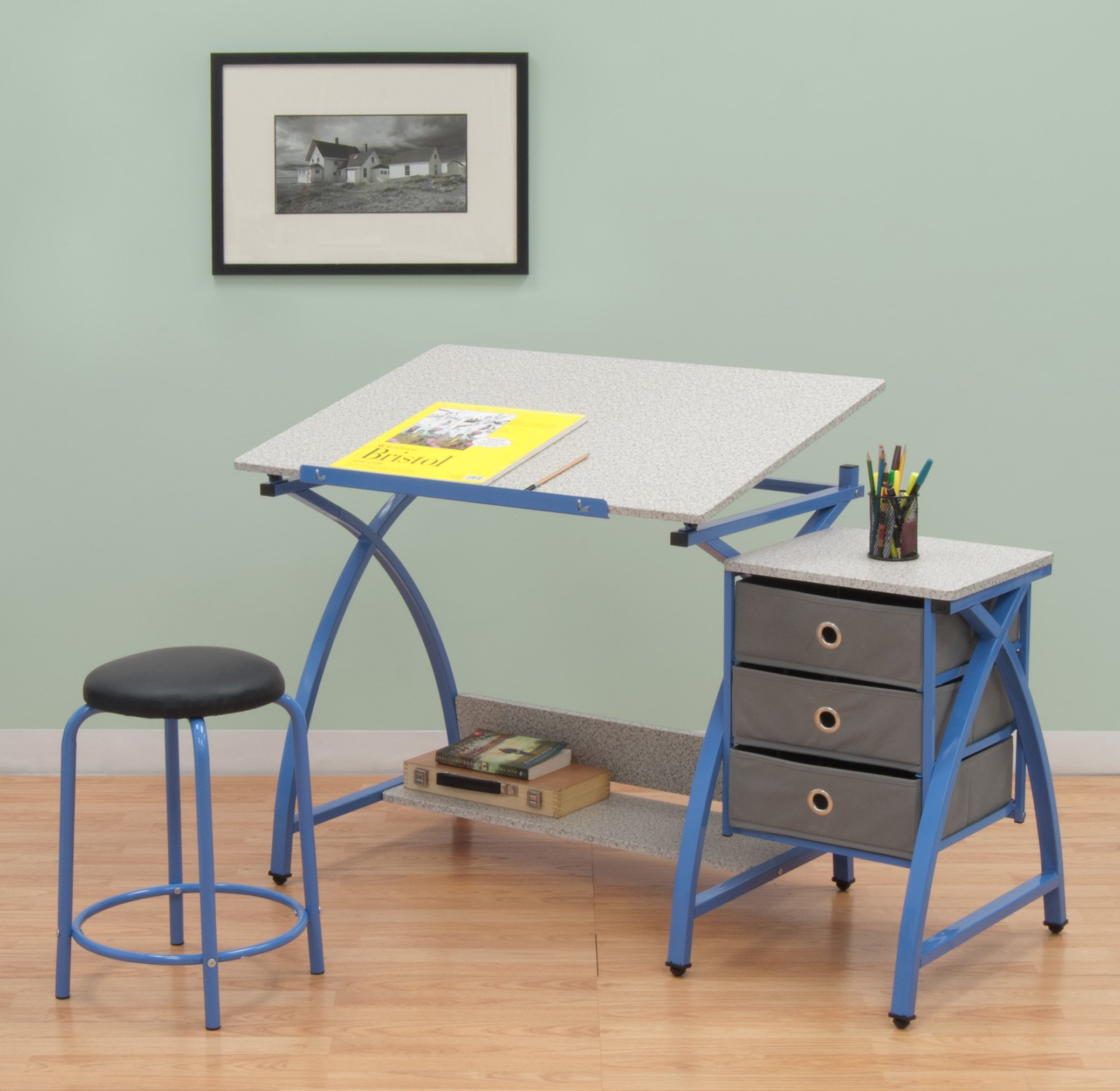 Comet Center with Stool in Blue / Spatter Gray by SD STUDIO DESIGNS (Image #4)