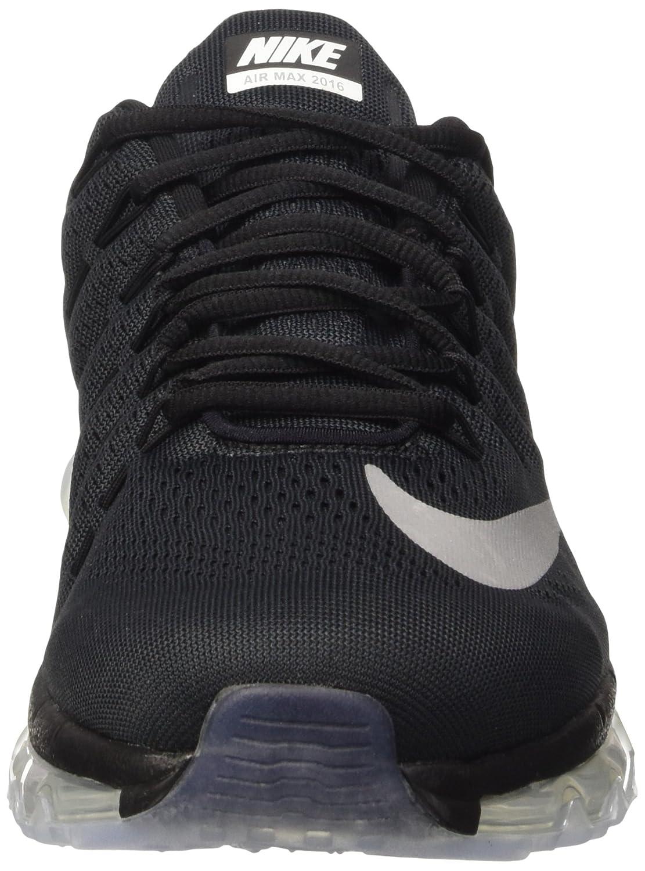 Nike Men's Air Max 2016 Running Shoe BlackWhiteDark Grey Size 11.5 M US