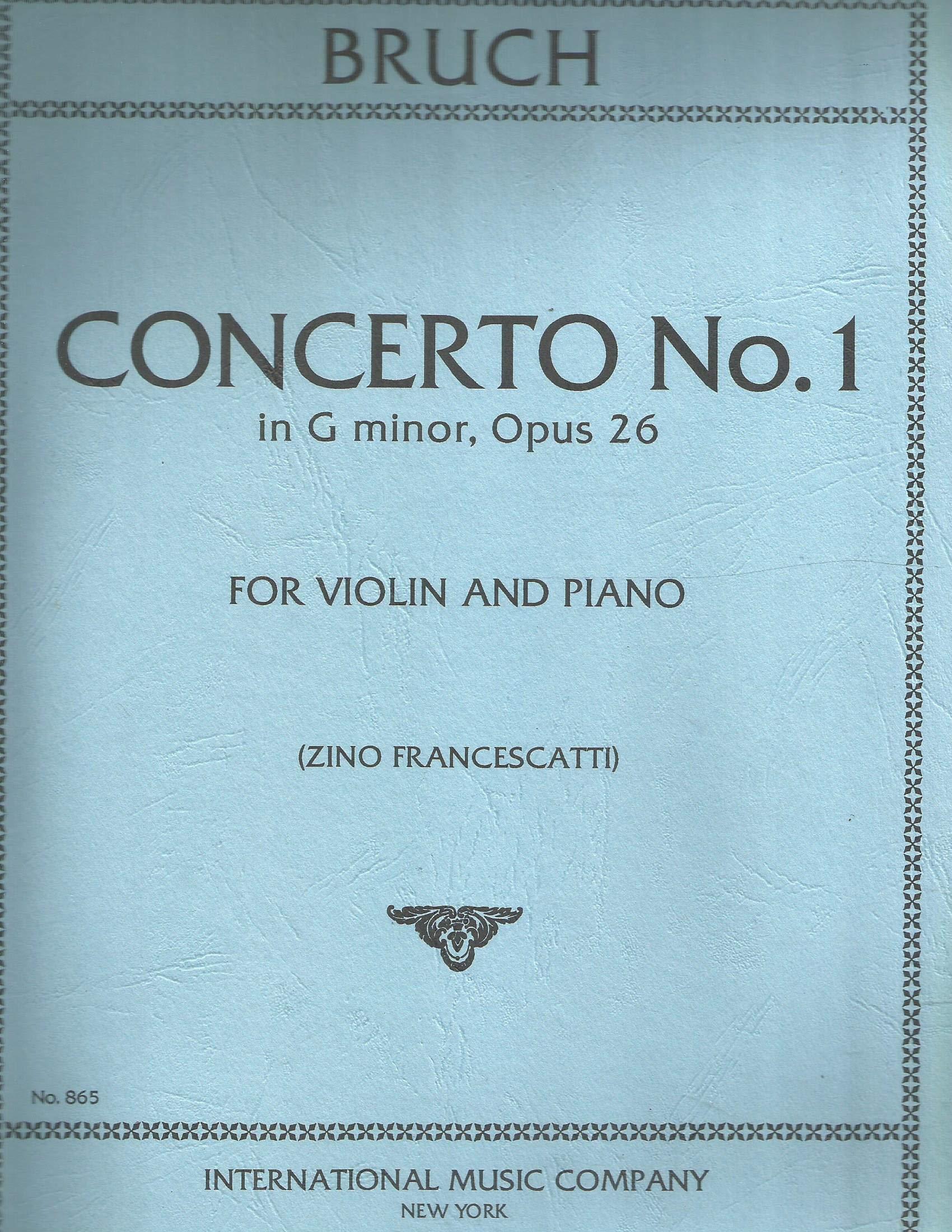 Amazon.com: Bruch, Max - Concerto No 1 in g minor Op. 26 for ...