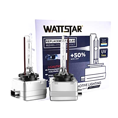 Wattstar Car HID D3S Xenon Headlight Bulbs, 35W 4300K 12V Diamond White OEM Replace for Halogen or LED Exterior Headlamp Bulbs(Pack of 2): Automotive