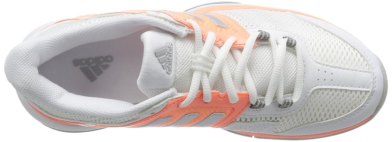 adidas Barricade Club, Chaussures de Tennis Femme, Blanc - Weiß (FTWR White/Matte Silver/Sun Glow S16), 40 EU