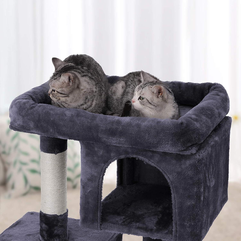 FEANDREA Árbol para Gatos Rascador para Gatos Columnas recubiertas de Sisal para Gatos Antracita PCT61G: Amazon.es: Productos para mascotas