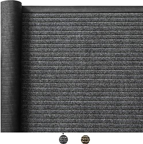 Color Geometry Outdoor Door Mat 47X70 Rubber Mats, Low-Profile Doormat, Indoor Outdoor,Heavy Duty Mat for Floor, Patio, Entry, Back Front Door,Grey