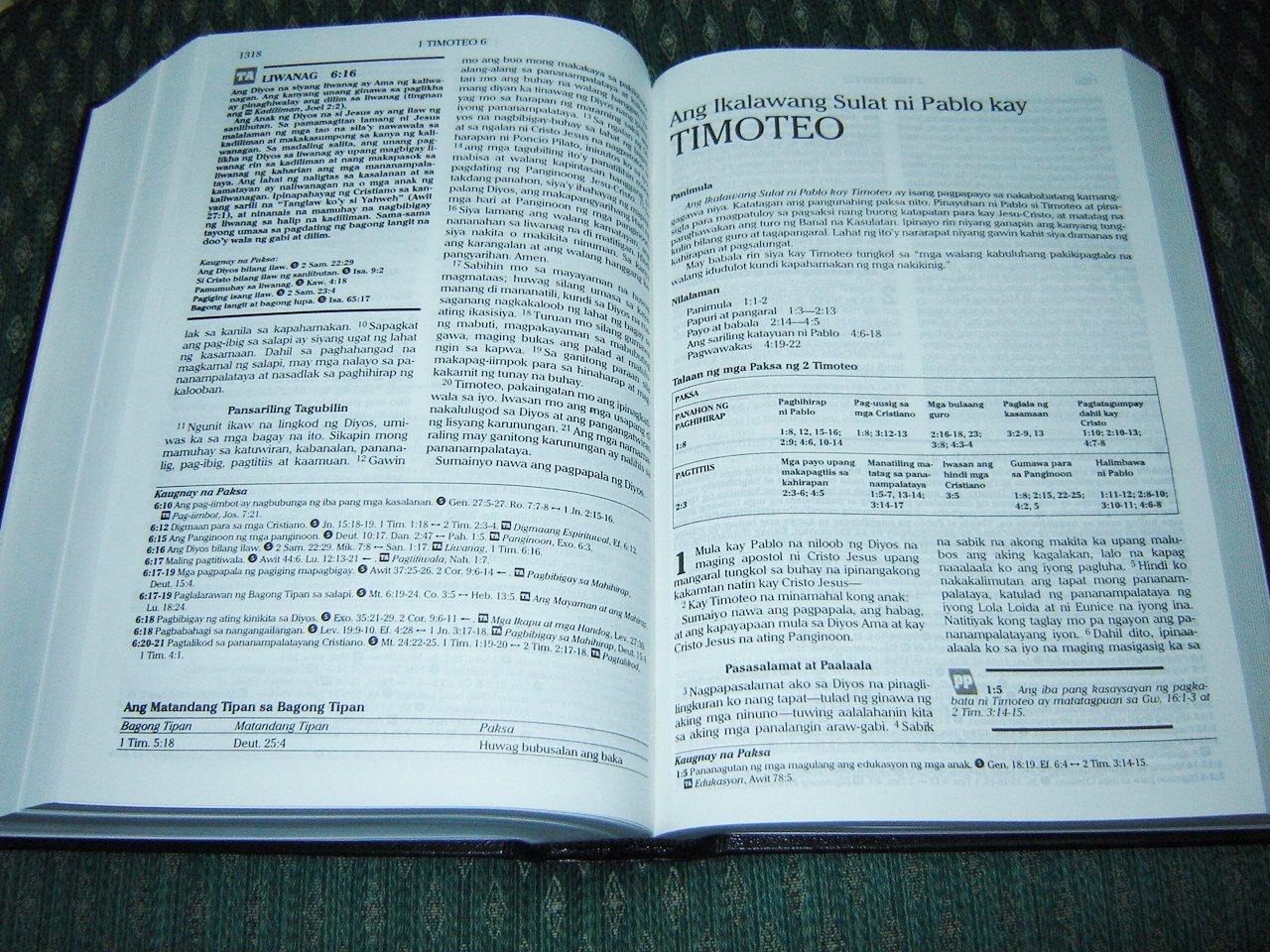Tagalog Topical Study Bible / Tagalog Popular Version