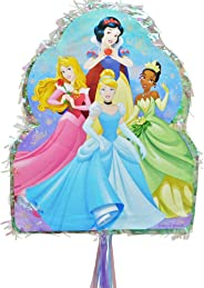 Party City Pull String Disney Princess Pinata, Holds up to 2 Pounds of Filler, with Jasmine, Ariel, Tiana, and More