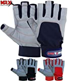 MRX BOXING & FITNESS Sailing Gloves with 3/4 Finger and Grip for Men and Women, Great for Kayaking, Workouts and More