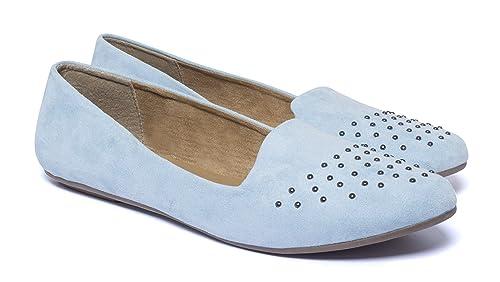 ZAPATO EUROPE - Mocasines de tela para mujer Azul azul, color Azul, talla 39: Amazon.es: Zapatos y complementos
