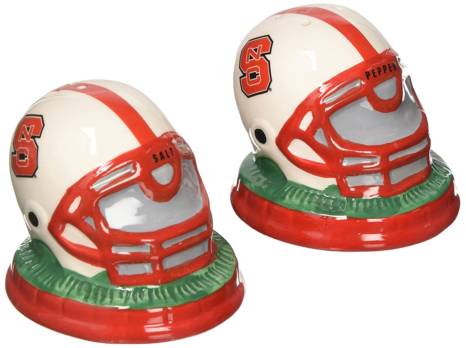 NCAA North Carolina State Helmet Salt and Pepper Shakers The Memory Company COL-NCS-632