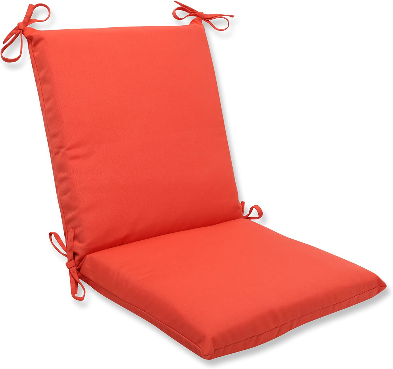 Pillow Perfect Indoor Outdoor Squared Corners Chair Cushion With Sunbrella Canvas Melon Fabric 36 5 In L X 18 In W X 3 In D Orange Home Kitchen