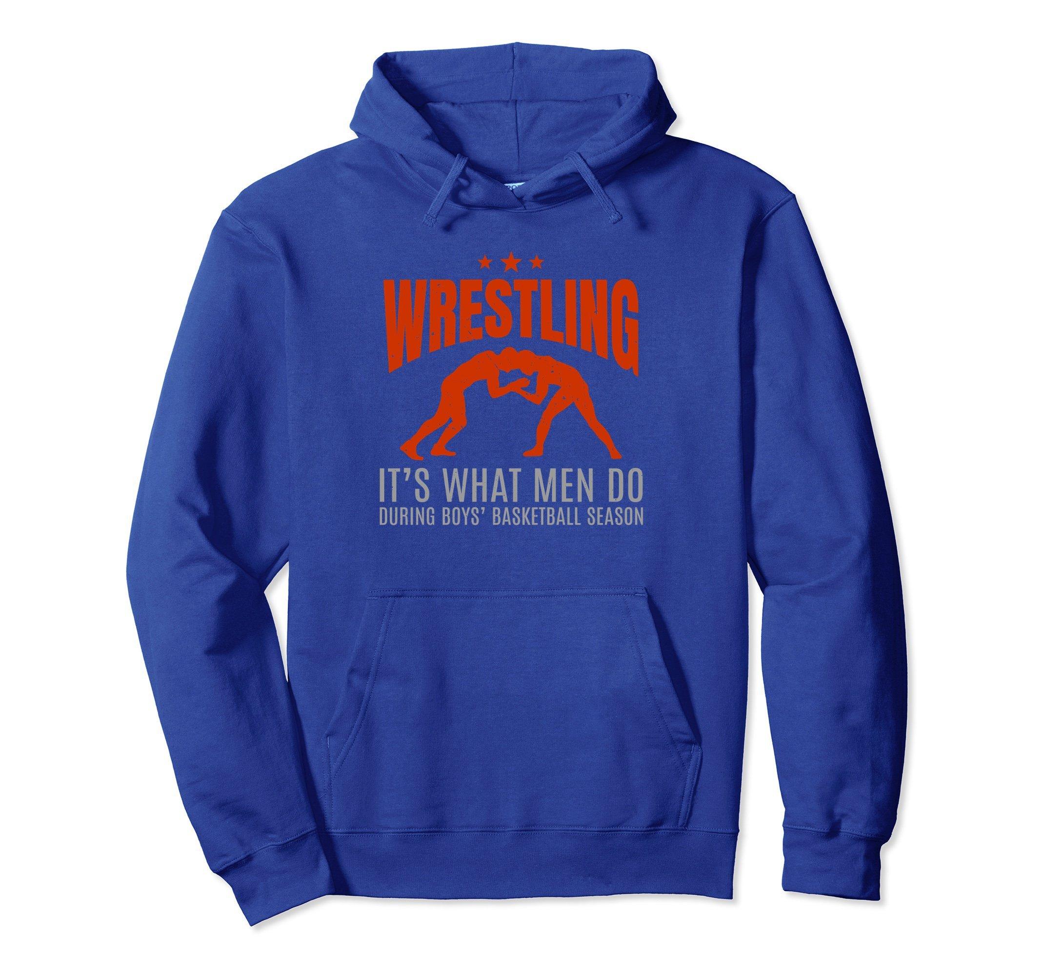 Unisex Funny Graphic Wrestling Hoodie Wrestle Gift for Wrestler XL: Royal Blue