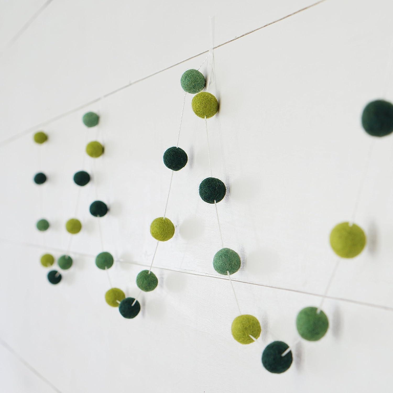 50pcs Round Wool Pompon Ball Beads DIY Jewellery Crafts SpringGreen 20mm
