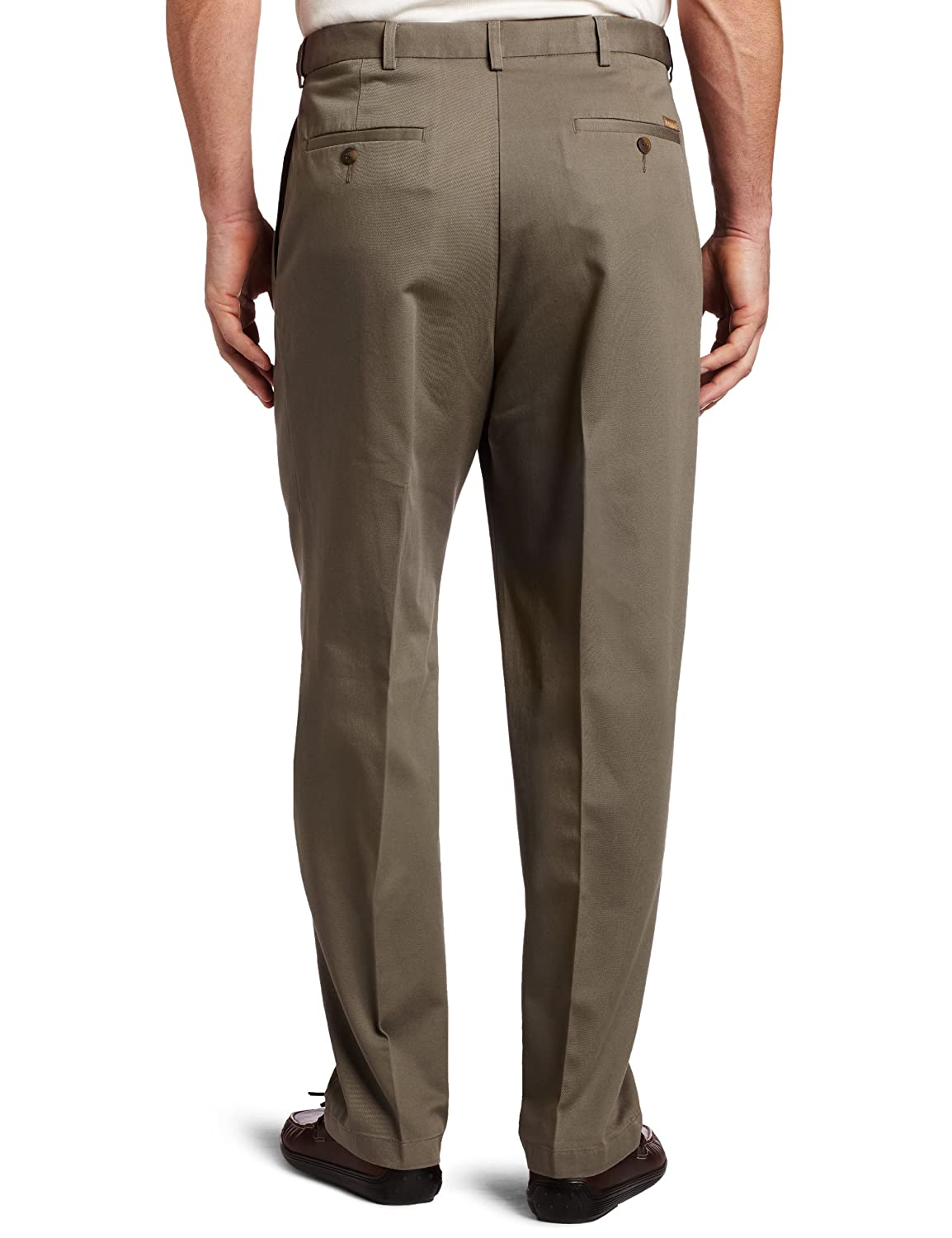 Haggar Mens Big /& Tall Work to Weekend Hidden Expandable-Waist Pleat-Front Pant