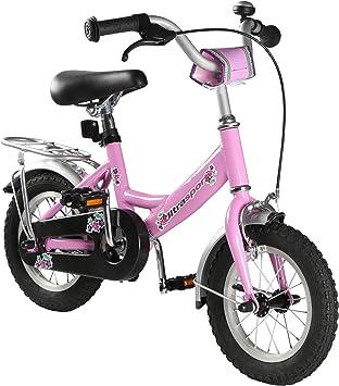 Ultrasport 331100000186 Bicicleta, Niñas, Rosa, 12 Pulgadas ...