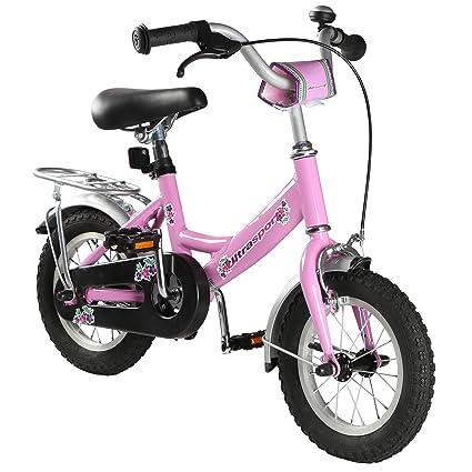 Bicicleta infantil de Ultrasport, para niñas y niños a partir de 3 años (aprox. 31,7 cm) o 4,5 años (aprox. 40 cm), con freno de contrapedal