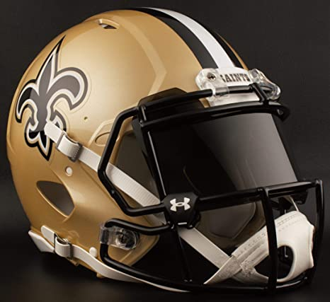 Image Unavailable. Image not available for. Color  Riddell New Orleans  Saints NFL Gameday Replica ... ea5a8e7c9