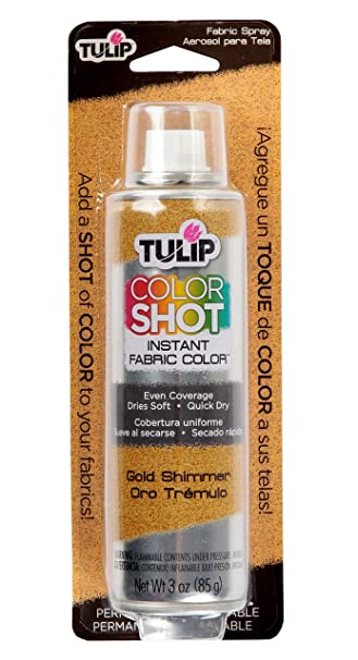 Tulip ColorShot Instant Fabric Color 3oz. Gold Shimmer