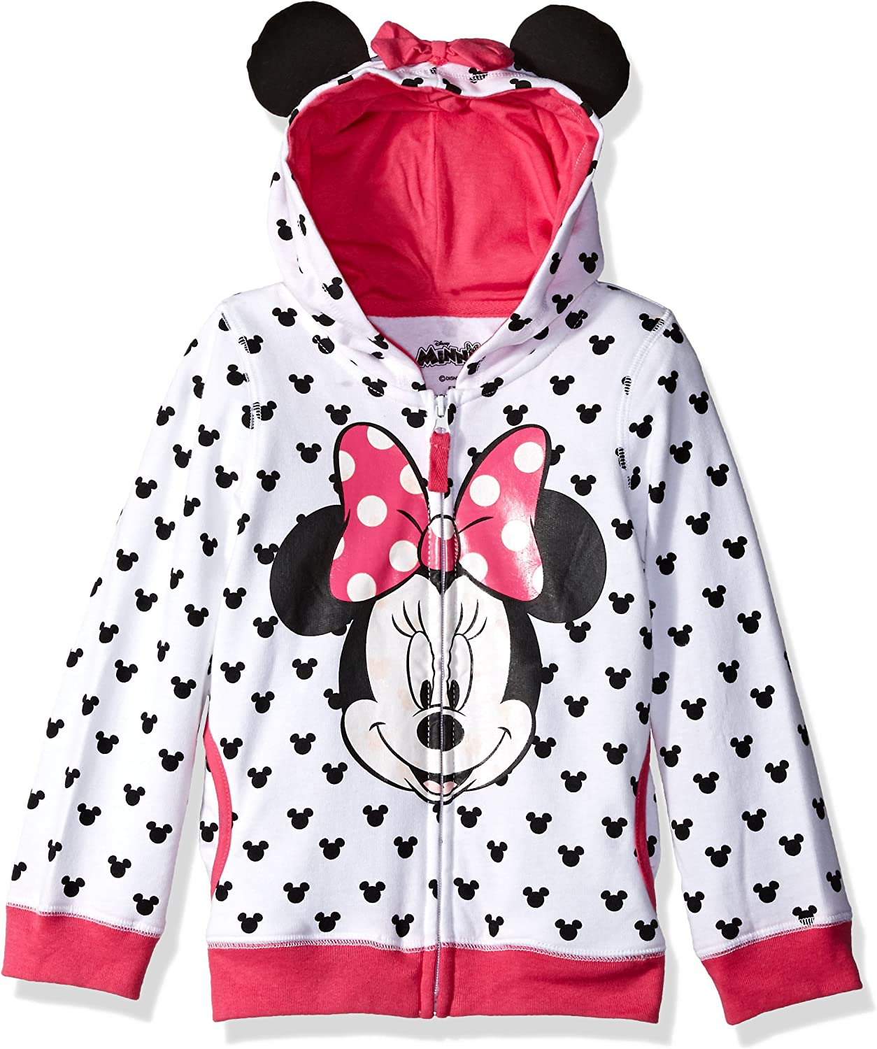 Disney Girls' Minnie Hoodie with Bow and Ear: Clothing