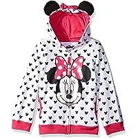 Disney- Sudadera de Minnie Mouse con orejas y maño, niña