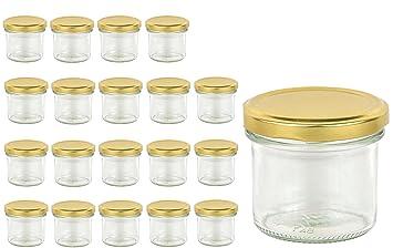 20 Sturzglaser 125 Ml Marmeladenglaser Einmachglaser Einweckglaser