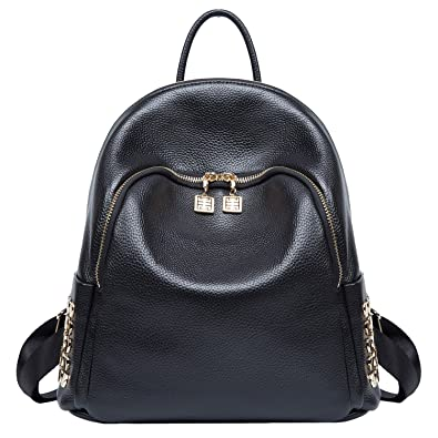 58a5024da62 Amazon.com: Genuine Leather Backpack for Women Fashion Ladies Bags College  Student Back Pack: Shoes