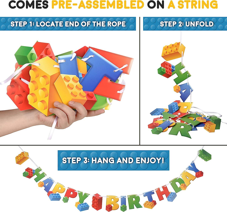 Amazon.com: Bloque de edificios para fiestas de cumpleaños ...