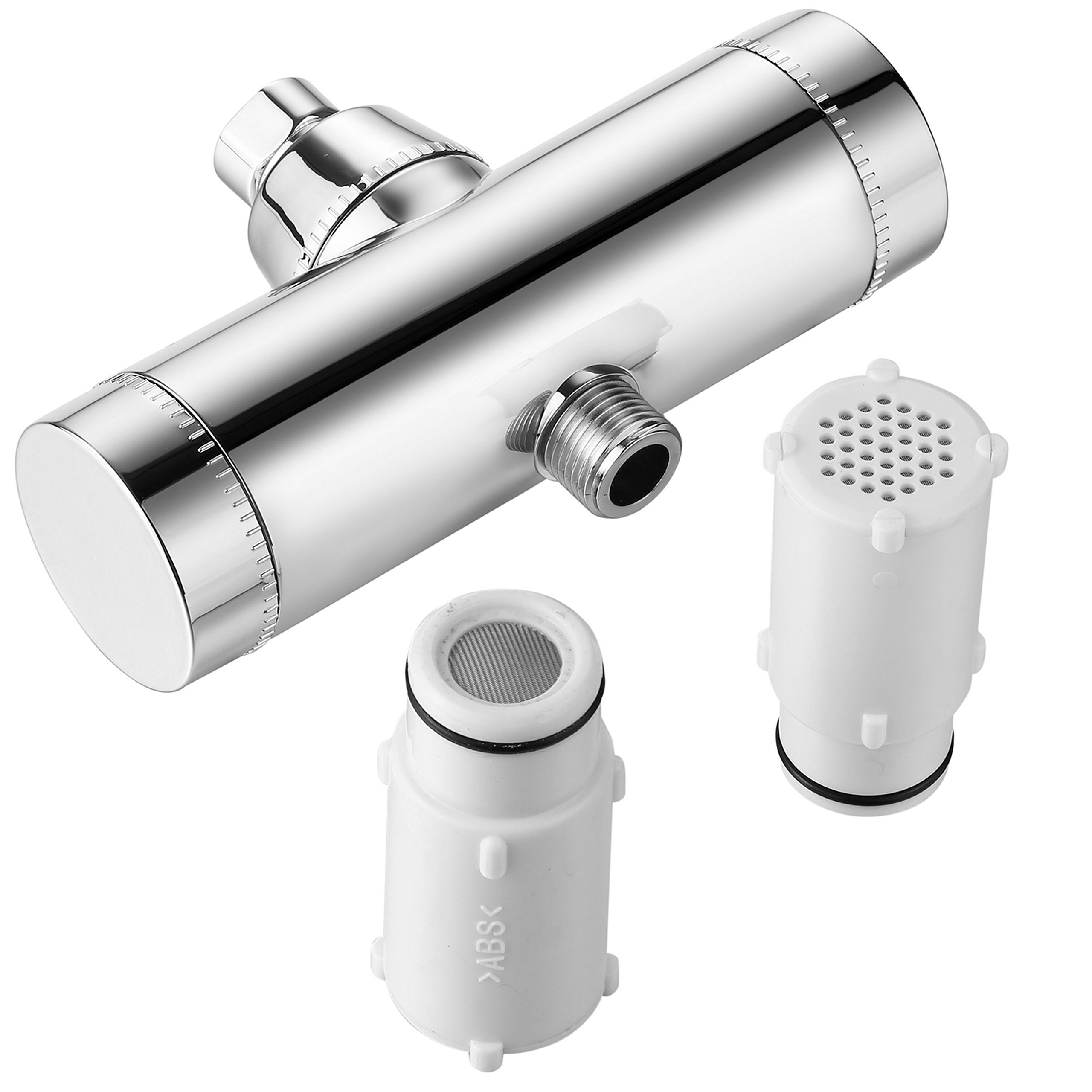 HotelSpa 1127 Dual-Cartridge 8-stage High Performance Shower Filter with Instant Side-Load Design. Enjoy 2X Filtration Power and Superior Water Flow Capacity for More Water Pressure!