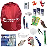 Prepared Hope ESSENTIALS Emergency Survival Kit for House Fires, Earthquakes, Hurricanes, Torandoes, Stranded Cars, and Bug-Outs with Backpack