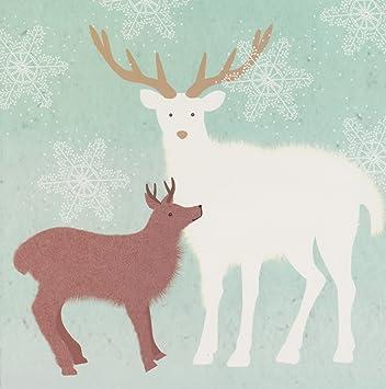 Wwf Weihnachtskarten.Wwf Animal Charity Weihnachtskarten Rentier Mutter Und Baby White