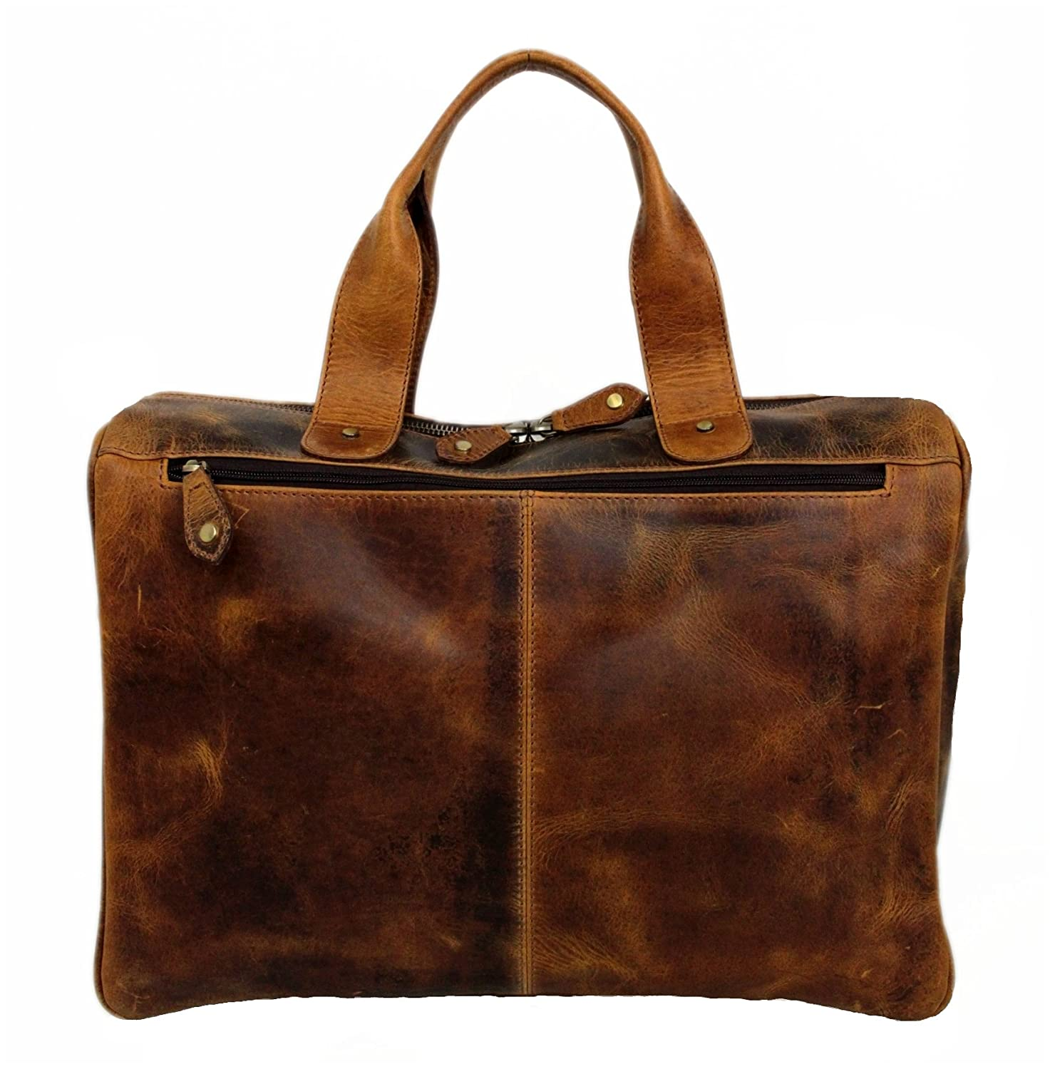 Leather Shoulder Bag for Women Business Bag with Strap Laptop 16-inch Derby PB34A