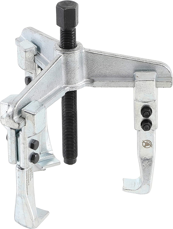 Silver//Black Kraftmann 93-6 2-Legs Parallel Jaw Puller 120 x 100 mm