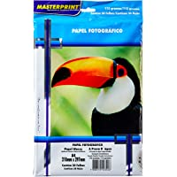Papel Fotografico Inkjet A4 Glossy 115G - Pacote Com 50, Masterprint, 302010055, Branco