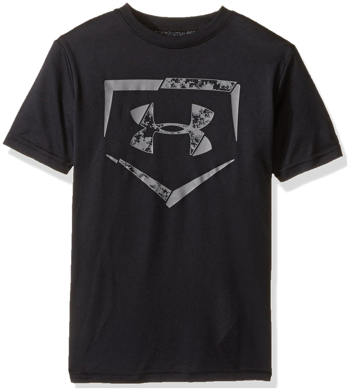 Under Armour Boys 'ダイヤモンドロゴTシャツ B018S4CQTC Youth Medium|ブラック/グラファイト ブラック/グラファイト Youth Medium