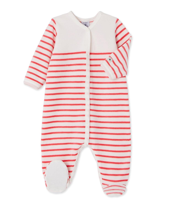 Petit Bateau Baby-Mä dchen Schlafstrampler Dors Bien Mehrfarbig (Lait/Gloss 85) 80 (Herstellergrö ß e: 12m/74cm) 25650