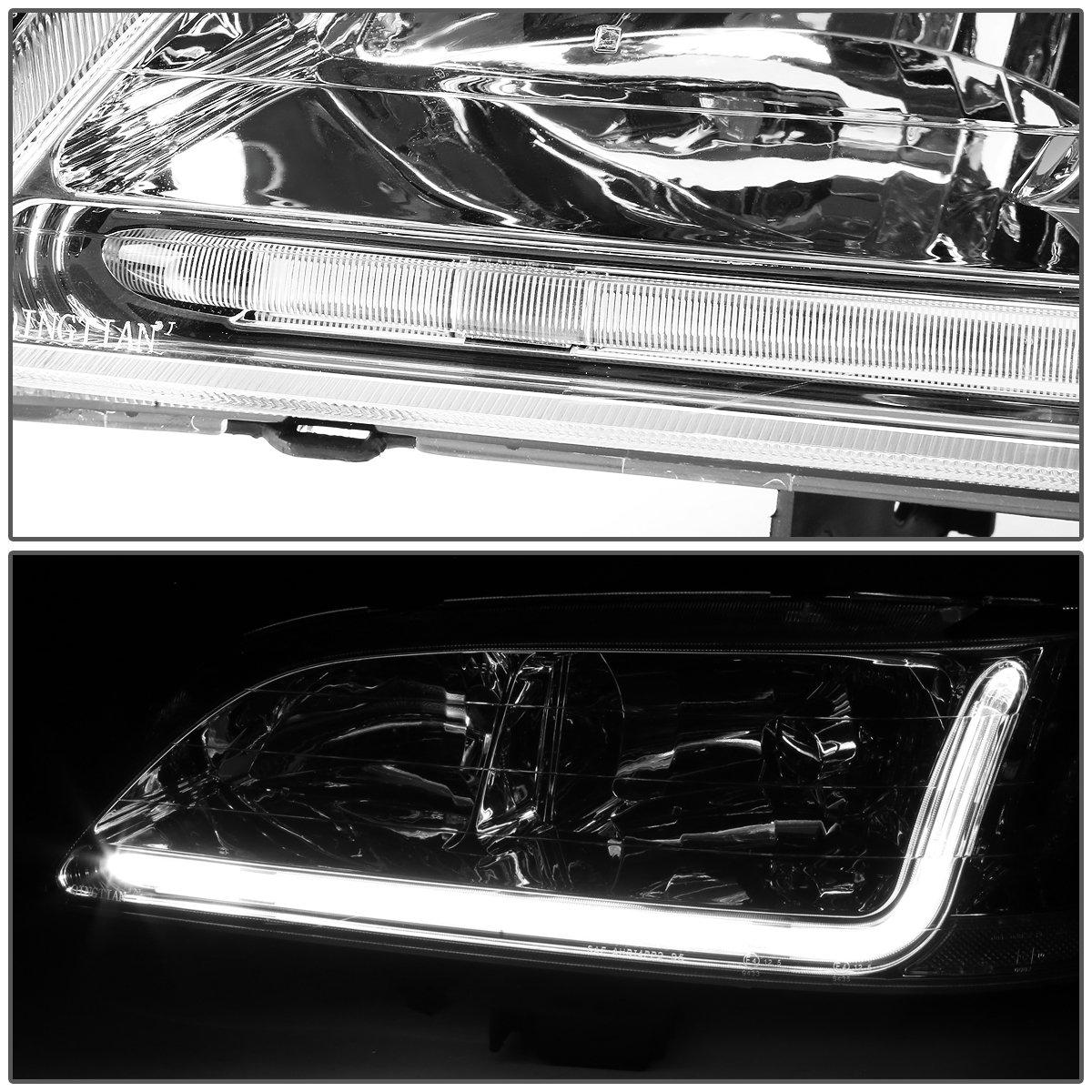 DNA Motoring Chrome clear HL-LB-HA98-CH-CL1 Headlight Assembly Driver /& Passenger Side