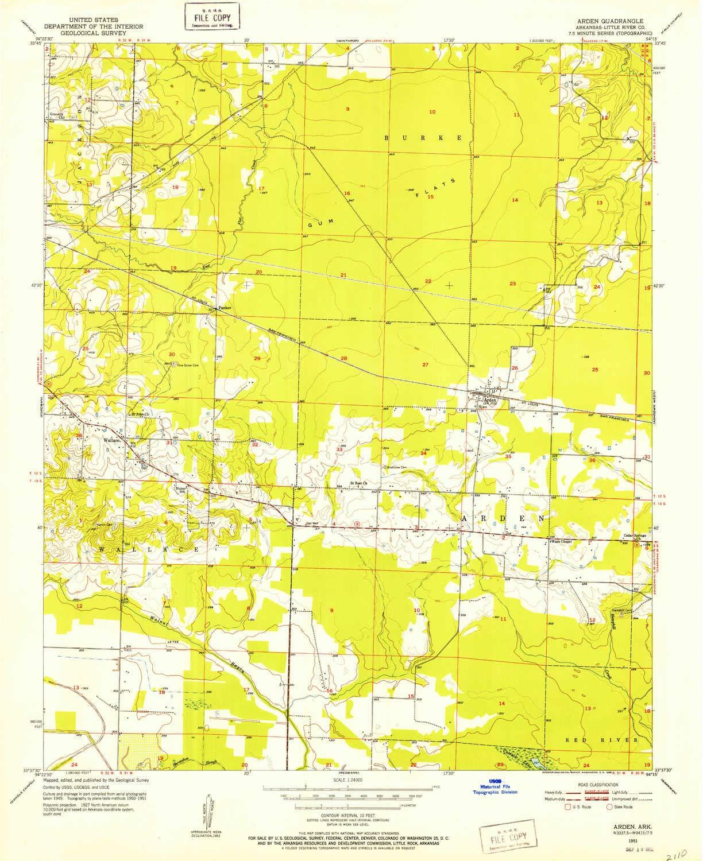 Ark Elevation Map.Amazon Com Yellowmaps Arden Ar Topo Map 1 24000 Scale 7 5 X 7 5