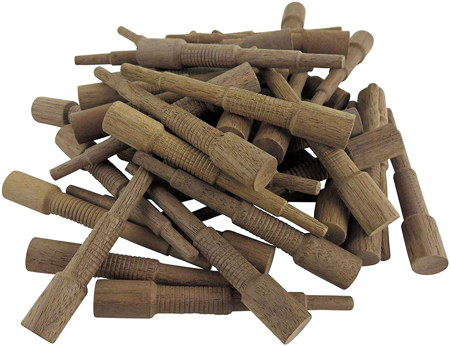 """Miller Dowel Pack 10 Each 2x Stepped Oak Dowels for Stock up to 1-5//8/"""" Thick"""