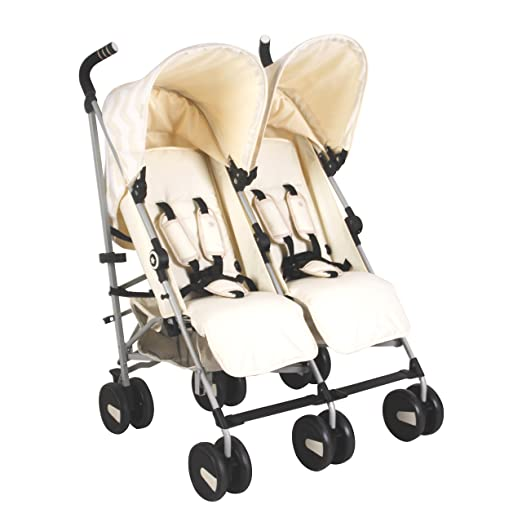 Amazon.com: My Babiie US22 - Cochecito doble, color crema: Baby