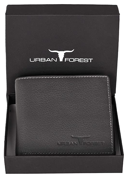 URBAN FOREST Leather Men's Wallet  UBF130GRY1022_Grey  Wallets