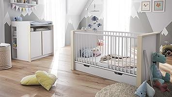 Babyzimmer Kinderzimmer Komplett Set Nandini Set 2 In Weiss Matt Mit