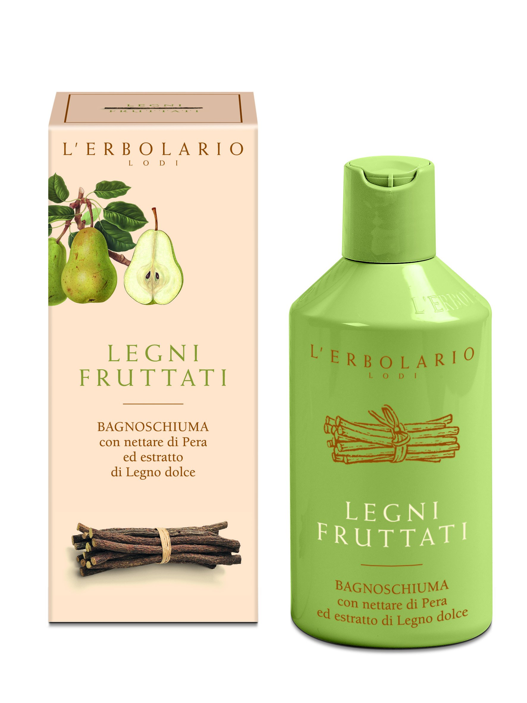 Legni Fruttati (Fruit & Woods) Bath Foam by LErbolario Lodi