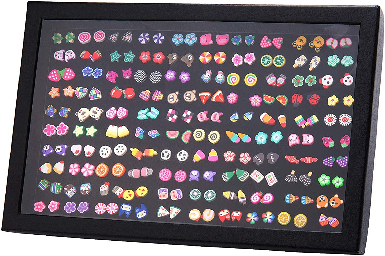 Remebe Pendientes Hipoalergénicos para Niñas, 100 Pares Color Mezclado Cerámica Suave Hecho a Mano Pendientes