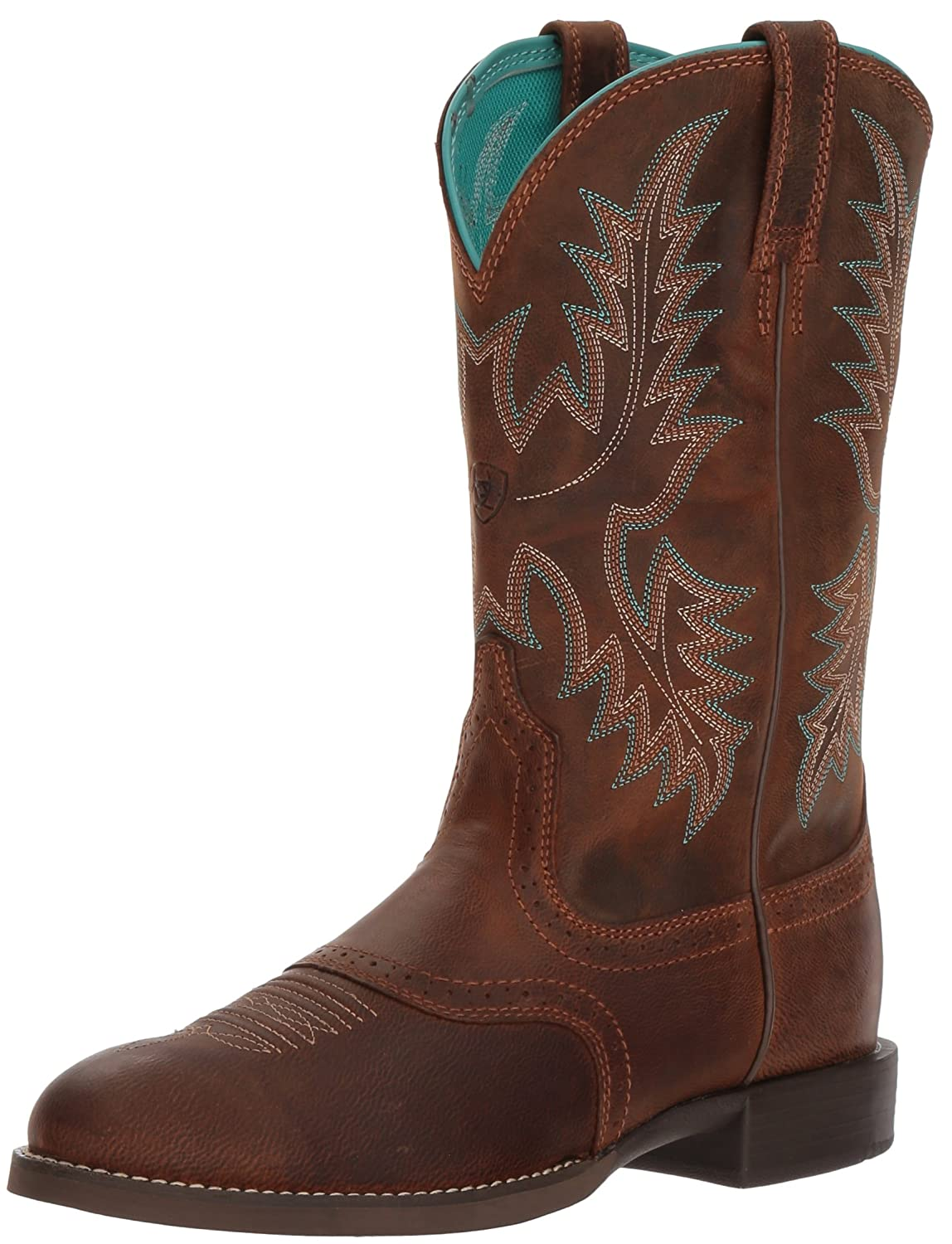 Ariat Women's Heritage Stockman Western Boot B076RNFQ4X 7.5 C US|Sassy Brown