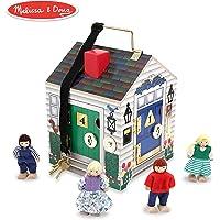 Melissa & Doug Take-Along Wooden Doorbell Dollhouse