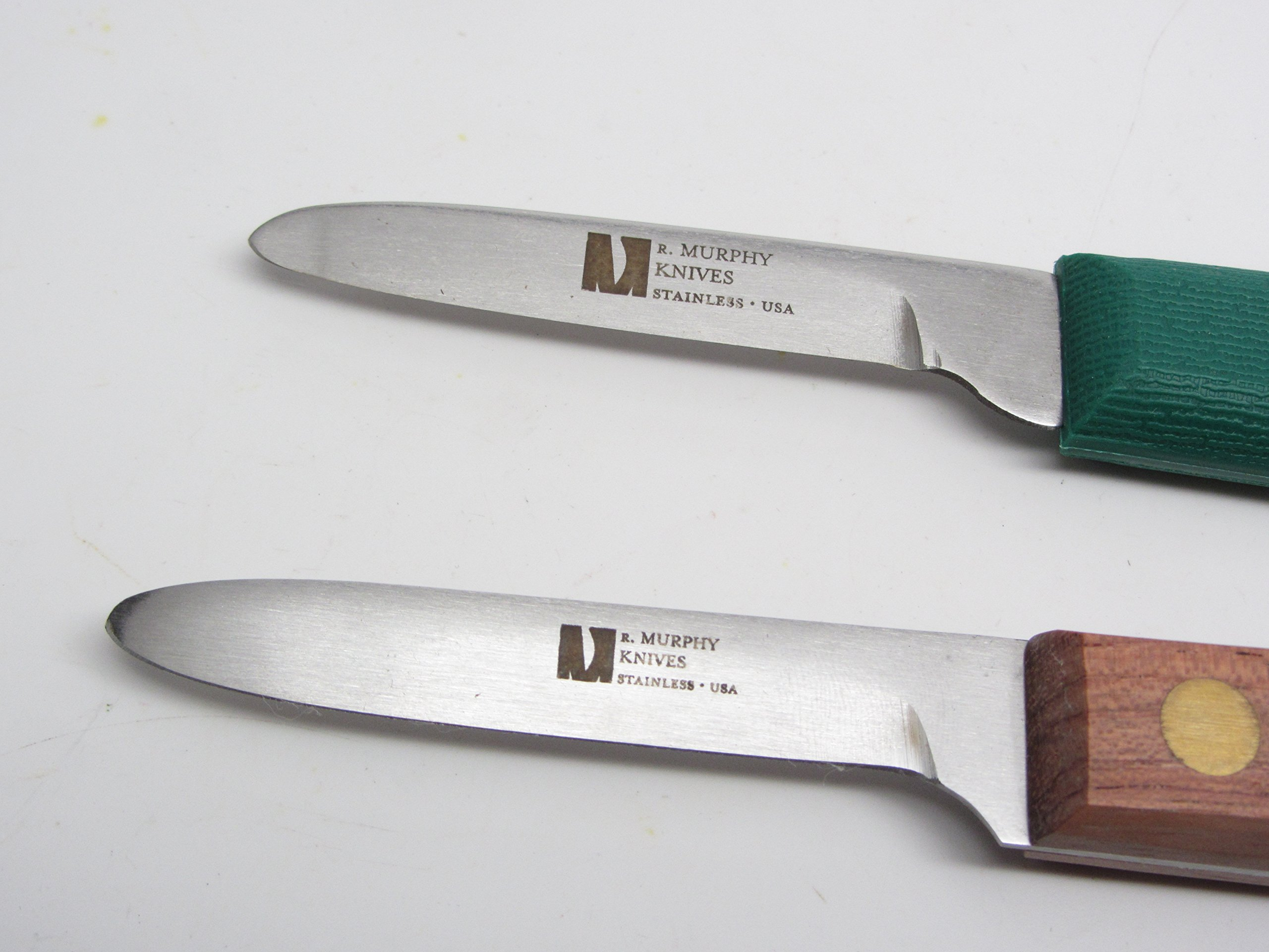 2 R Murphy Shellfish Little Neck Clam Knife Seafood Tools Poly & Wood Handle by UJ Ramelson Co