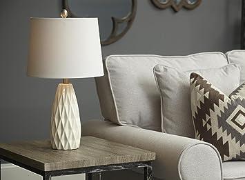 Amazon Com Home Source Lmp1600 Cream Ceramic Table Lamp Ceramic