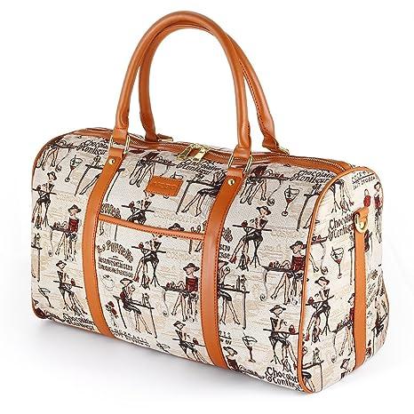 e4da299cff Borsone da donna oversize in canvas, AIZBO da viaggio su borsone Borse in  pelle PU