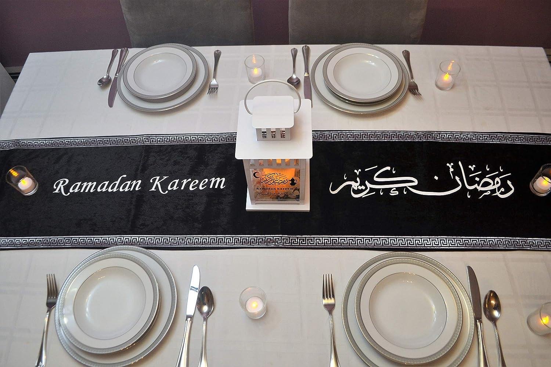 Ramadan Decor Ramadan Iftar Table Decoration Ramadan Gift Ramadan Table Runner Ramadan Velvet Table Runner Ramadan Table setting