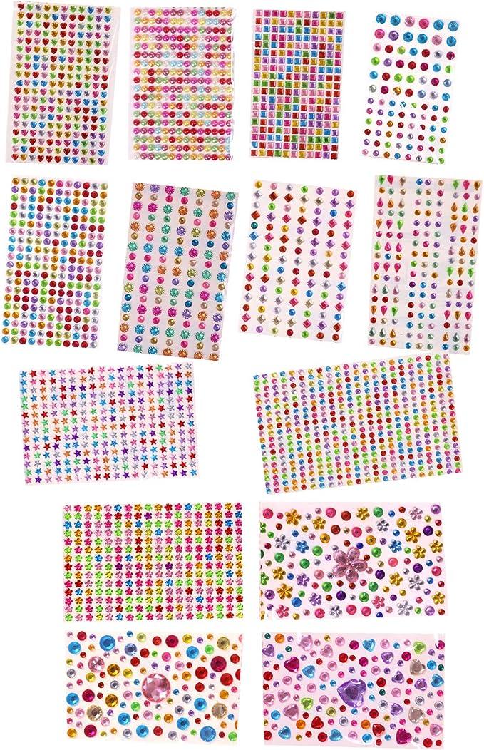 Kristall Diamant Sticker Strass DIY Aufkleber Basteln Schmuck Deko